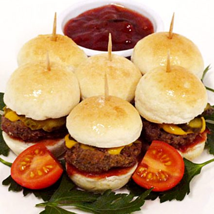 Baby Beef Burgers - BBQ Finger Food by Devour It Catering company Melbourne