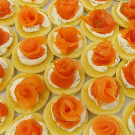 smoked Salmon Blinis - Finger Food by Devour It Catering Melbourne