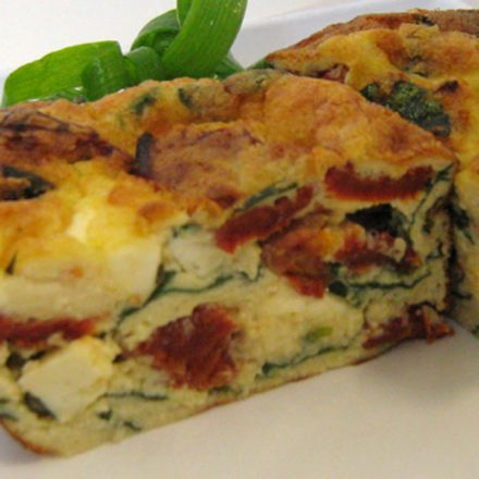 Sun-Dried Tomato and Fetta Frittata by Devour It Catering Melbourne