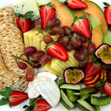 Seasonal Fruit and Cheese Platter by Devour It Catering Melbourne