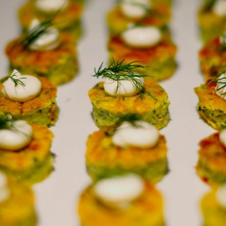 Baked Zucchini Fritters - Finger Food | Devour It Catering